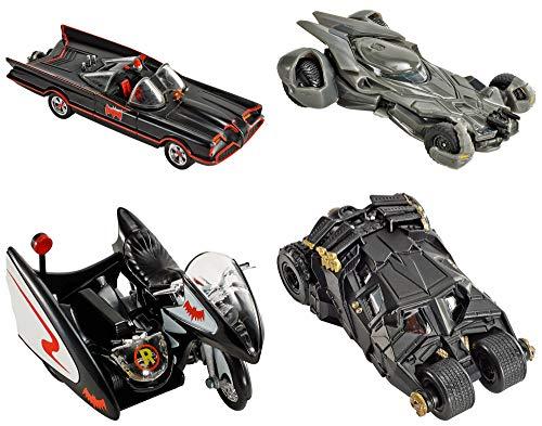 Mattel Hot Wheels DKL20 DC Batman 1:50 Deluxe Fahrzeug, je 1 Fahrzeug, zufällige Auswahl