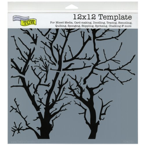 CRAFTERS WORKSHOP 499989 Template, 12 by 12-Inch, Branches Reversed