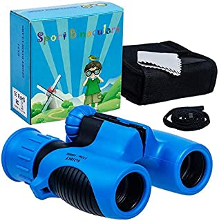 8x21 Kids Binoculars Set - High Resolution Real Optics - Shock Proof - Bird Watching - Presents for Kids - Children Gifts ...