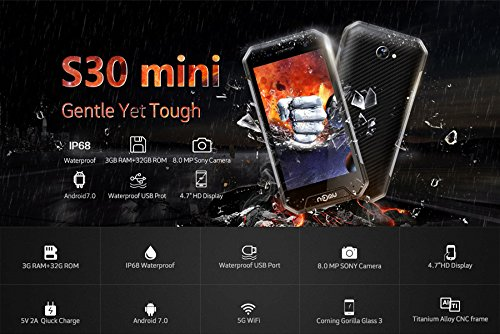NOMU S30 Mini - IP68 Impermeable Android 7,0 4G Smartphone ...