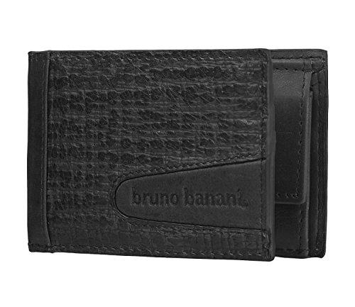 bruno banani Herren Geldbörse Portemonnaie Geldbeutel Schwarz 3772