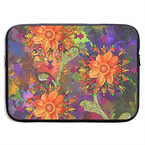 JKOVE Borsa per PC Portatile,Printed Abstract Art Painting Flower Colourful Ultrabook Briefcase Sleeve Bags Cover for MacBook Pro/Acer/Asus/Lenovo Dell