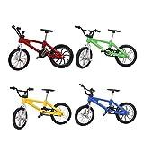 YeahiBaby Dedo Bicicleta de montaña 4 piezas 1:18 novedad en miniatura Bicicletas de aleación modelo de juguete, Juguete de ejercicios con los dedos para niños (Amarillo, Azul, Verde, Rojo)