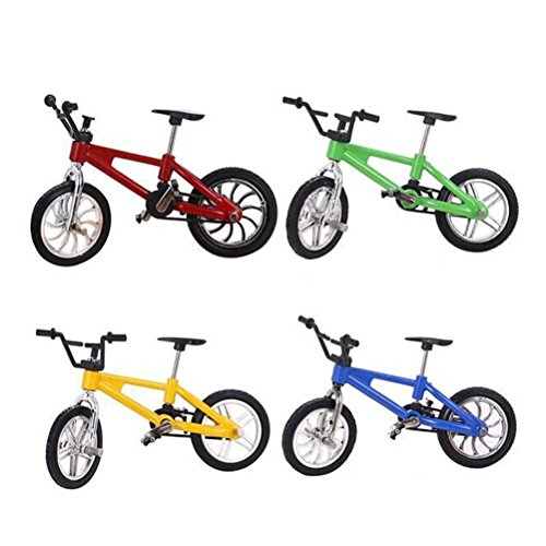 TOYMYTOY Finger Mountain Bike 1:18 Mountain Bike Model Toy 4Pcs Giocattoli da bicicletta per bambini