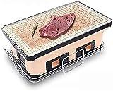 Mini Parrilla de carbón de leña - Hibachi Grill estilo japonés Clay Pot Mesa Parrilla Tabletop Parrilla Parrilla Portátil Al Aire Libre