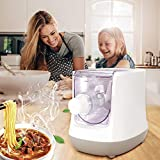 KKTECT Máquina para Hacer Pasta eléctrica Máquina de Fideos Inteligente de 13 moldes Material de Seguridad de Grado alimenticio con Pantalla LCD Espaguetis/macarrones/Bola de Masa en 15 Minutos