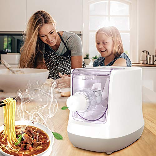 KKTECT Elektrischer Nudelhersteller 13 Formen Intelligente Nudelmaschine Sicherheitsmaterial für Lebensmittel mit LCD-Bildschirm für Spaghetti/Makkaroni/Knödelhaut in 15 Minuten