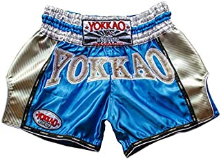 YOKKAO Carbon Fiber and Satin Fight Shorts for Muay Thai, Boxing, Kickboxing, MMA and Training