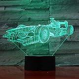 BFMBCHDJ Acryl Auto 3D Nachtlicht Neuheit 7 Farben Ändern LED Schreibtisch Tischlampe 3D Illusion...