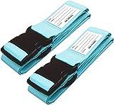 Cinghia Valigia. Cinghie per valigie con cinghie per bagagli pesanti - Cintura Valigia personalizzata per identificare la valigia - Accessori Viaggio Utili di Qualità per le Valigie Blu, 2