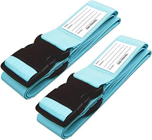 Kofferband Gurt SCHWERLAST PERSONALISIERTER KOFFERGURT mit Adressschild: OW Travel Luggage Strap Koffer Gurte Gepäckgurt Koffer Koffer Gurt Koffer Band Koffergurte farbig Koffergurte 2 stück