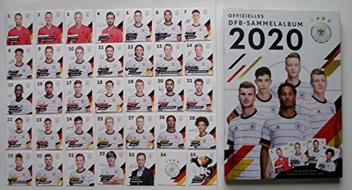 Rewe EM 2020 DFB - Sammelkarten - Album mit Allen 35 verschiedenen Normale Karten - KOMPLETT + 1 Fußballsondermünze der WM 2006 Lukas Podolski