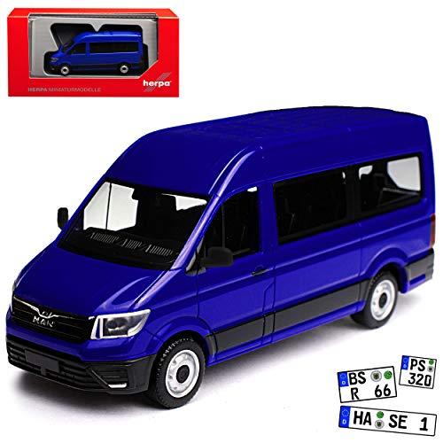 Herpa Man TGE Personen Transporter Blau Baugleich Volkwagen Crafter Ab 2016 H0 1/87 Modell Auto