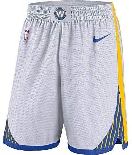 Lalagofe Golden State Warriors Shorts, Pantaloncini Bianchi, Stephen Curry, Kevin Durant Basket Basketball (M, Bianco)