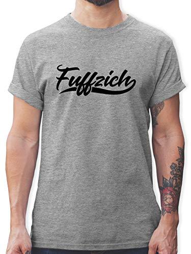 Geburtstag - Fuffzich 50. Geburtstag - L - Grau meliert - 50 Geburtstag t-Shirt Mann - L190 - Tshirt Herren und Männer T-Shirts