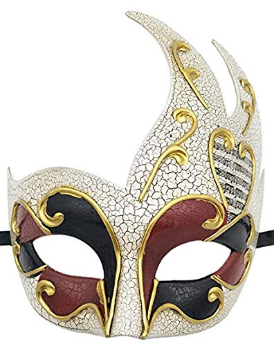xiayanmei Maskerade Maskerade Masker voor heren Vintage Gebarsten Venetiaanse Feestmasker Halloween Mardi Gras Masker