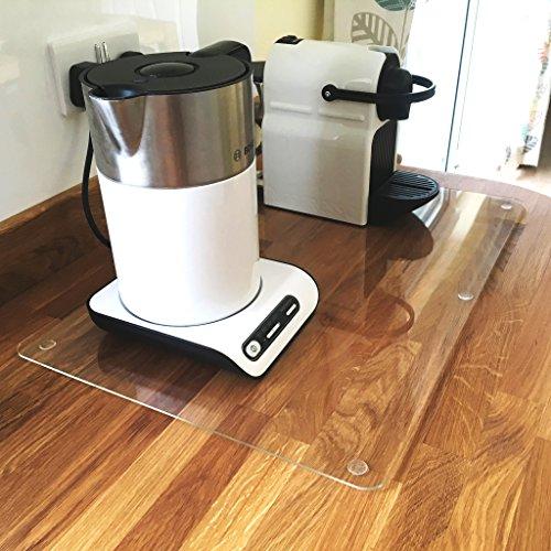 Super Cool Creations Protection de Plan de Travail - Transparent - Taille Moyenne - 40 x 50 cm