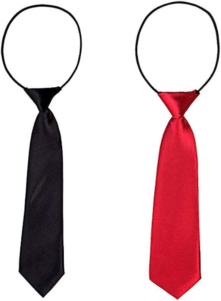2 piezas corbatas de niño, corbata elástica de bodas para niños de la escuela infantil con corbata elegante atada para cualquier niño de 6 a 12 años