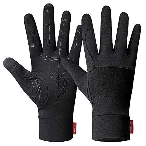 Acexy, guanti termici sottili per uomo e donna, leggeri e antiscivolo, guanti per il freddo, antivento, invernali, caldi per corsa, ciclismo, trekking, guida, arrampicata (XL)