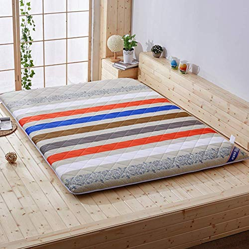 BH Tatami mattress, quilted mattress cover, comfortable breathable breathable padded non-slip padded polyester padding B 90x200 cm (35x79 inches)