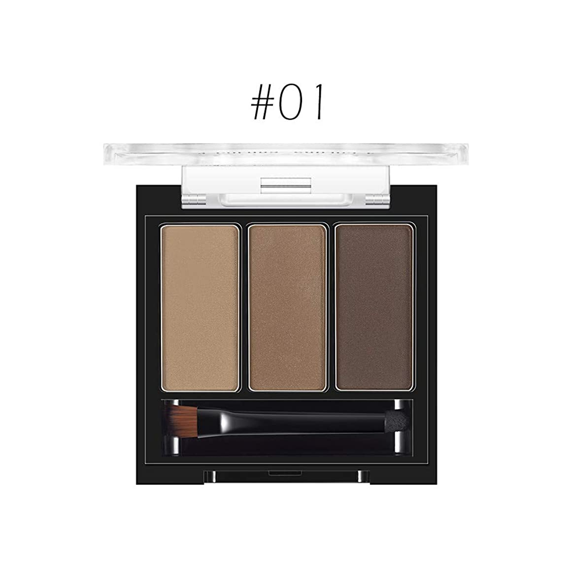 3 Colors In 1 Long- Lasting Water-Proof Eyebrow Powder Makeup Palette Natural Eye Brow Cosmetics