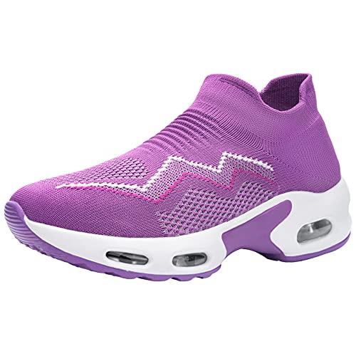 Zapatillas de Seguridad Mujer Ligeras Respirable Colchón de Aire Zapatos de Seguridad Trabajo Punta de Acero Calzado de Seguridad Deportivo