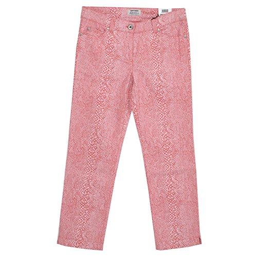 Gerry Weber, Roxy Summer, Damen 7/8 Damen Jeans Hose Stretchdenim Lachsrot Snake Print D 40R Inch 31 L 25 [18840]