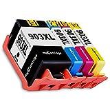Mycartridge - Cartucce compatibili con HP 903 XL 903XL (chip nuovo) per stampanti HP OfficeJet 6950 HP OfficeJet Pro 6960 6970 All-in-One (nero/ciano/magenta/giallo)