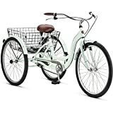 "Best Adults Tricycles - Schwinn Meridian 26"" Adult Tricycle Green (Mint) Review"