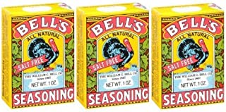 Bell`s All Natural Salt Free Poultry / Turkey Seasoning 1 Oz (Pack of 3)