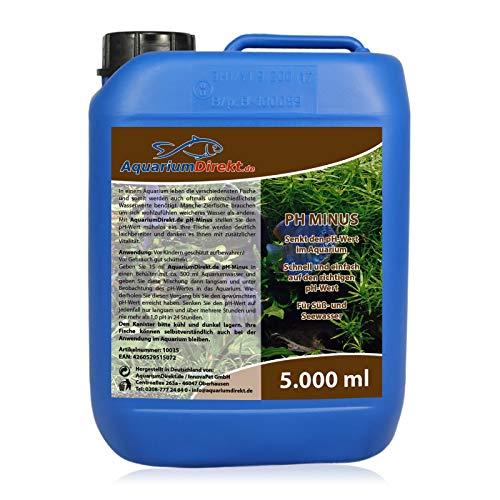 AquariumDirekt pH-Minus (GRATIS Lieferung in DE - Für weicheres Wasser - Senkt den pH-Wert im Aquarium - Laich, laichen - Vitalität Ihrer Zierfische - Ideal für Süß- und Seewasser), Größe:5 L