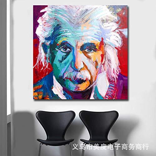 jzxjzx Carácter HD Pintura en Tinta Pintura al óleo decoración del hogar Pintura Lienzo Pintura núcleo 1 60x60cm
