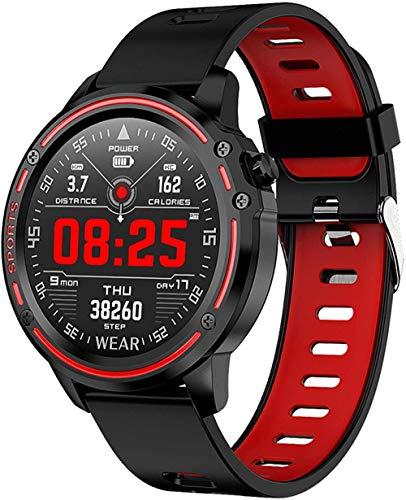 Reloj inteligente para hombre, IP68, modo impermeable, con ECG, PPG, presión arterial, frecuencia cardíaca, pulsera deportiva (color: A)-B