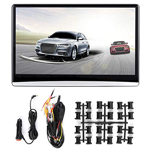 KIMISS Monitor per poggiatesta auto, 13,3 pollici HD 1080P IPS Car Video Player WiFi Bluetooth Sedile posteriore Lettore video Intrattenimento per Android 9.0