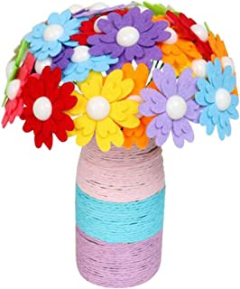Toyvian 1 Set Silk Flowers for Crafts Home Decoration Desk Flowers Home Decoration Desk Flowers Artificial Silk Flowers with Vase