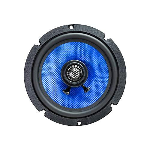 Hifonics Alpha HA65CXS - 6.5 Inch 2 Way Coaxial Car Speakers, 300 Watt Max, Black and Blue, Aluminum Dome Tweeter, Voice Coil, Shallow Mount