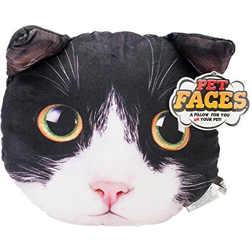 Pet Faces Tuxedo Cat Pillow