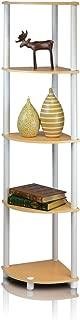 Best white corner shelf unit living room Reviews