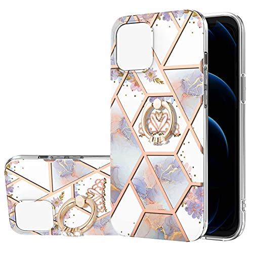 Funda para Apple iPhone 13 Mini 5.4 pulgadas Diamond Jewelry Ring Case Hybrid Anti-Resistente Piel Protectora (Corona, iPhone 13 Mini)