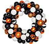 "Glitter Halloween Ornament Wreath, Halloween Door Decoration, 20"" W, by Specialty Décor and Gifts"