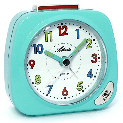 Atlanta Reloj Despertador Chica Azul Claro Turquesa Aprendizaje Niños - 1936-15