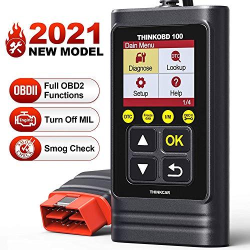 ThinkOBD 100 OBD2 Lector de Códigos Error de Motor Automóvil Apagado MIL y Prueba de Emisiones del Sensor de O2   EVAP con búsqueda de DTC Universal OBD2 Básico [ Nuevo 2020 ]