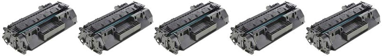 RudyTwos 5X Repuesto para Unidad de tóner HP 80A Negro Compatible con Laserjet Pro 400 M401A, M401D, M401DN, M401DNE, M401DW, M401N, MFP M425DN, MFP M425DW