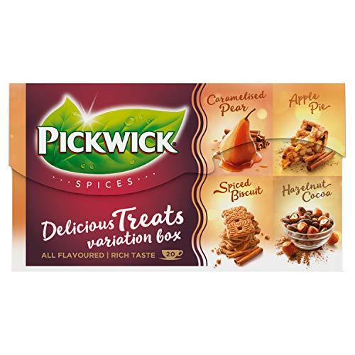 Pickwick Spices Delicious Treats Variatiebox, Met 4 Verschillende Smaken, 12 X 20 Theezakjes 360.00 G