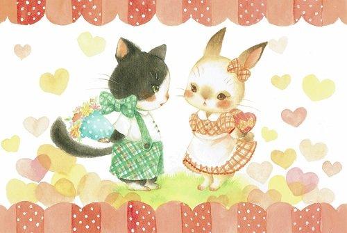 ねこの引出し 小林さゆり猫のポストカード ★どきどきバレンタイン