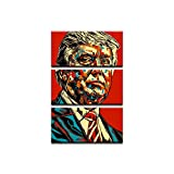 sjkkad Donald Trump Gemälde Lustige Retro Poster Leinwand