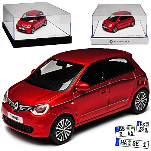 Renault Twingo III Rot 5 Türer 3. Generation Ab 2014 Version Ab Facelift 2019 1/43 Norev Modell Auto