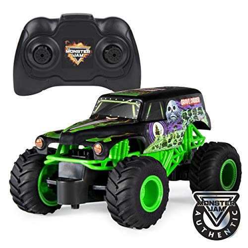 Monster Jam Official Grave Digger Remote Control Monster Truck, 1:24 Scale, 2.4...