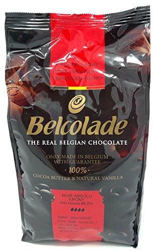 Belcolade 96% Noir Absolu Ebony - Masse de Cacao 1kg