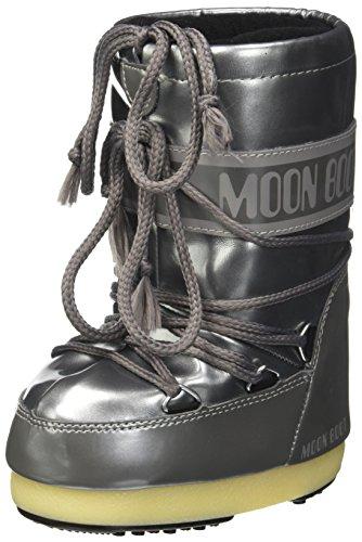 Moon Boot Unisex-Kinder Vinil Met Schneestiefel, Silber (Argento 004), 23 EU